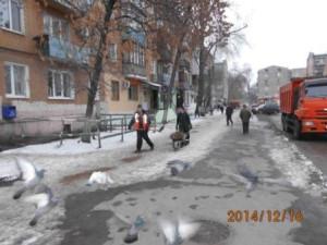 посыпка тротуаров ул.Бакинская