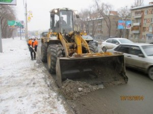 Вывоз снега ул. Гагарина (3)