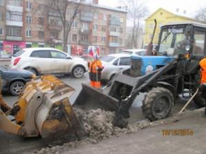 Вывоз снега ул. Гагарина (1)