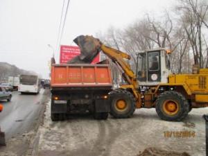 Вывоз снега ул. Гагарина (2)