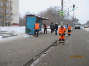 Уборка посадочных площадок ул. Антонова-Овсеенко