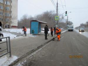 Уборка посадочных площадок ул. Антонова-Овсеенко (1)