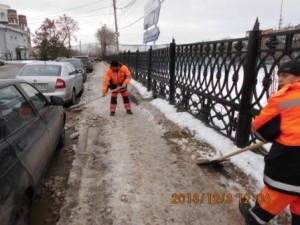 Тротуар на астанцию Красная Глинка