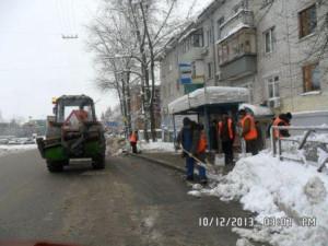 Н.Вокзальная-Ставропольская очистка остановок и пешеходных переходов