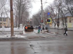 ул.Калининградская посыпка тротуар