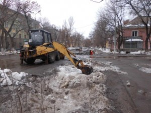 Очистка водопропускных труб ул.Фасадная