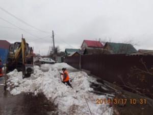Очистка труб ул.Ровная