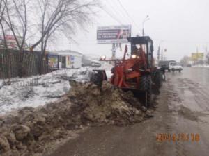 Уборка наледи ул. Дыбенко (2)