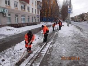 Очистка лестниц улица Победа