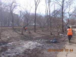 Пугачевский тр. подбор мусора