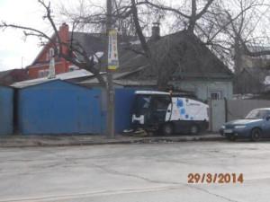 Очистка тротуара ул. Авроры