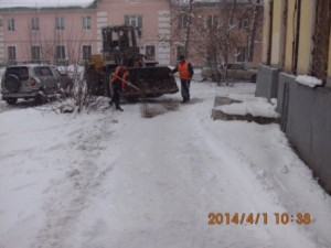 Посыпка ПСС тротуара Молодежный пер.