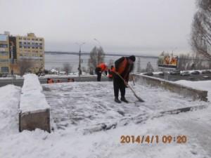 очистка лестничного спуска Осипенко на СВМ (2)