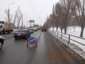 очистка тротуара по Лесной вдольгаражей (этот тротуар заваливает снегом при очистке площадки обслуживающая гараж техника) (5)