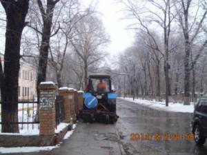 Очистка тротуара ул.Зеленая