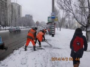 Очистка остановок СВМ , Волжский пр (2)