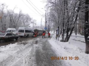 Очистка остановок СВМ , Волжский пр (5)