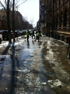 очистка тротуаров молодогвардейская (2)