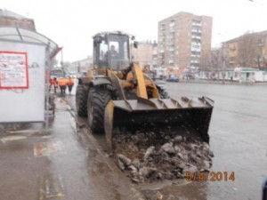 Очистка посадочной площадки ул. Победа