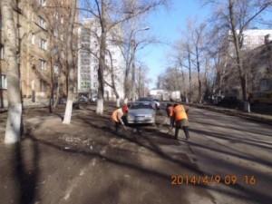 ул.Калининградская очистка зимние накопления
