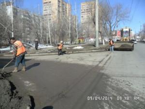 проспект кирова уборка прилатковой части и тротуаров (1)