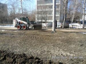 проспект кирова уборка прилатковой части и тротуаров (3)