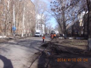 Очистка от зимних накоплений ул.Калининградская