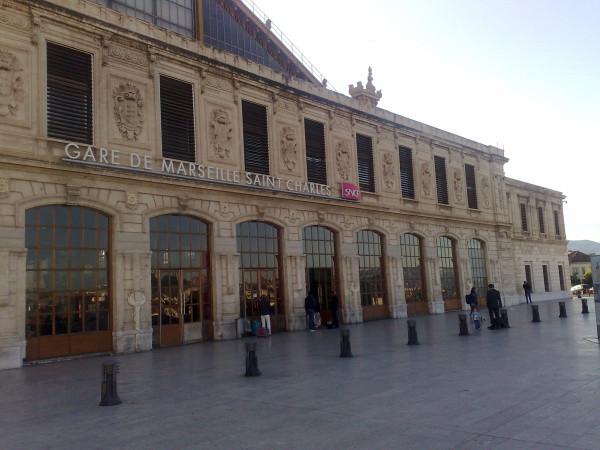 Фасад ж/д вокзала Saint-Charles, Marseille, 23 мая 2015 года