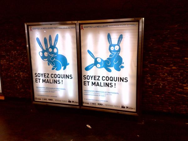 Социальная реклама против СПИДа в марсельском метро, Marseille, Rond-point du Prado, 01 dec 2015