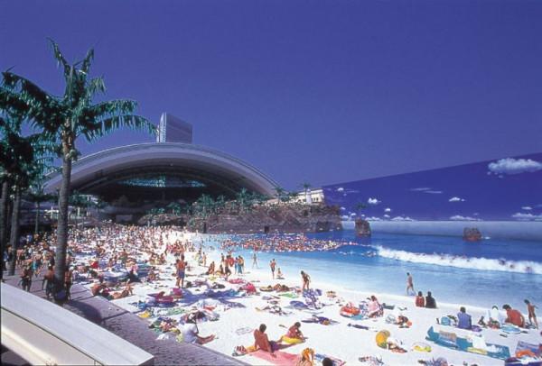 Искусственный пляж в Японии