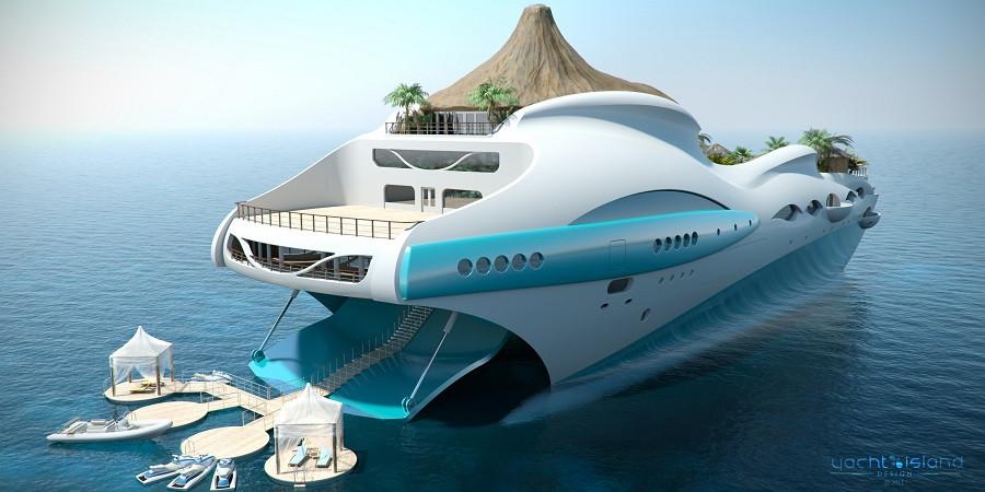 Райская яхта Tropical island Paradise
