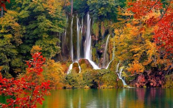 Плитвице водопад Саставцы