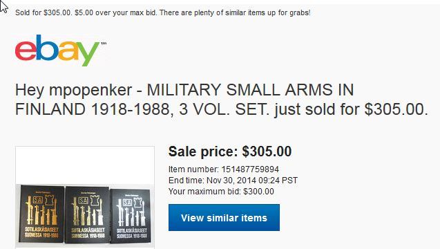 GOT AWAY MILITARY SMALL ARMS IN FINLAND 1918-1988, 3 VOL. SET