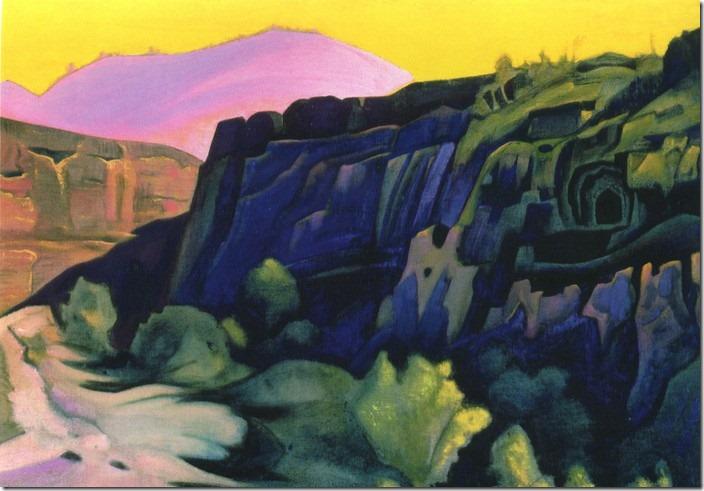 Печери Аджанти, картина Реріха