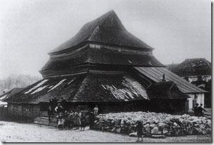 Гвіздець, синагога, фото з сайту gvozdets.if.ua