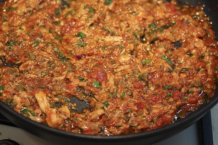 Спагетти с тунцом