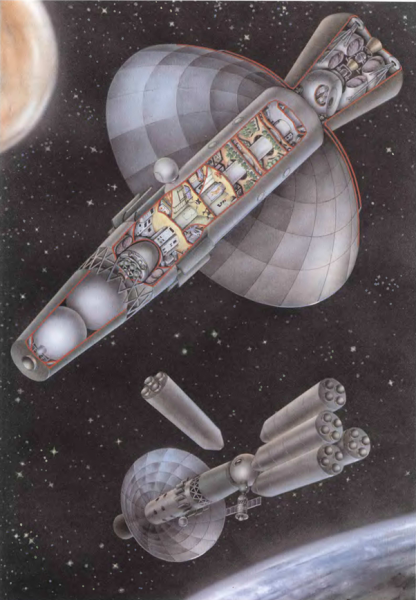 Sergey Korolev's Mars Flight Spaceship, popular scheme
