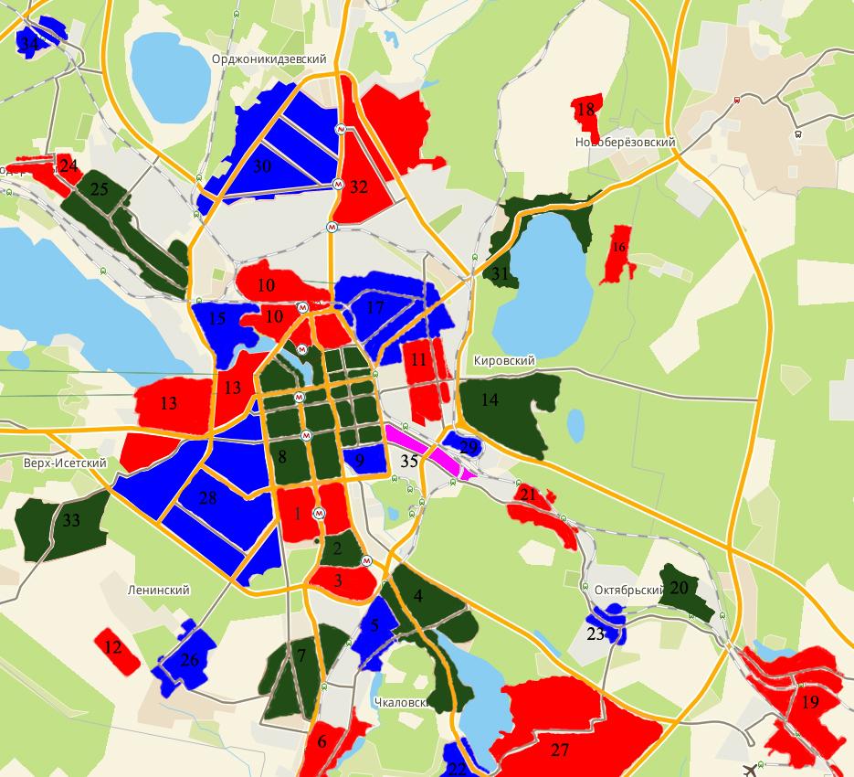 Екатеринбурга карта район жби железобетонные изделия в воронеже