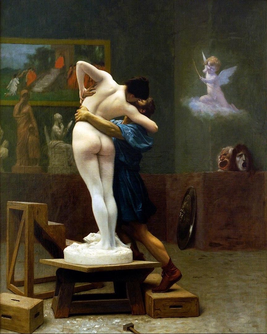 Жан-Леон Жером. Пигмалион и Галатея 1892