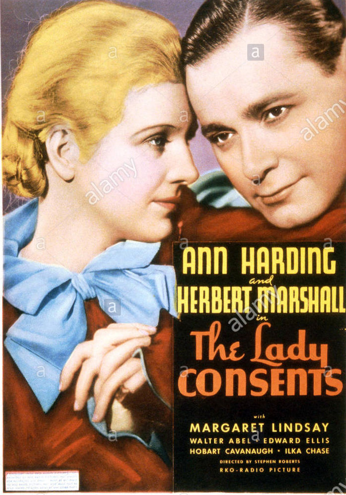 the-lady-consents-us-poster-ann-harding-herbert-marshall-1936-E5NFEY