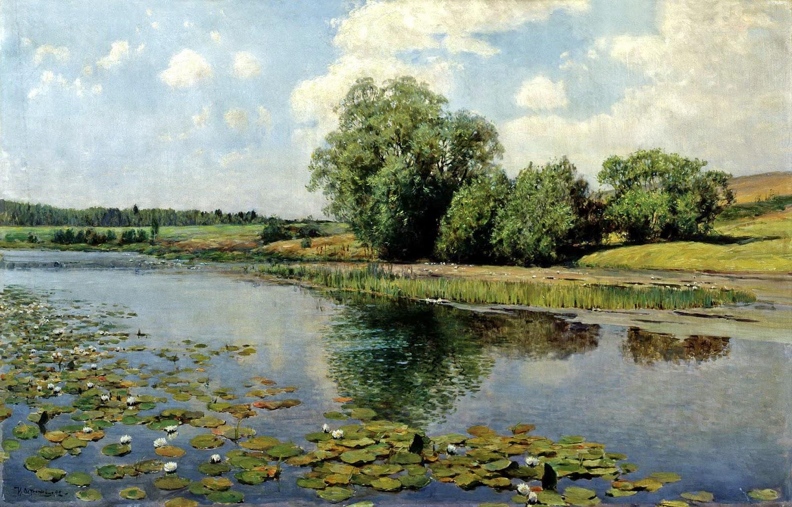 Ilya Ostrouhov - River at Midday 1892