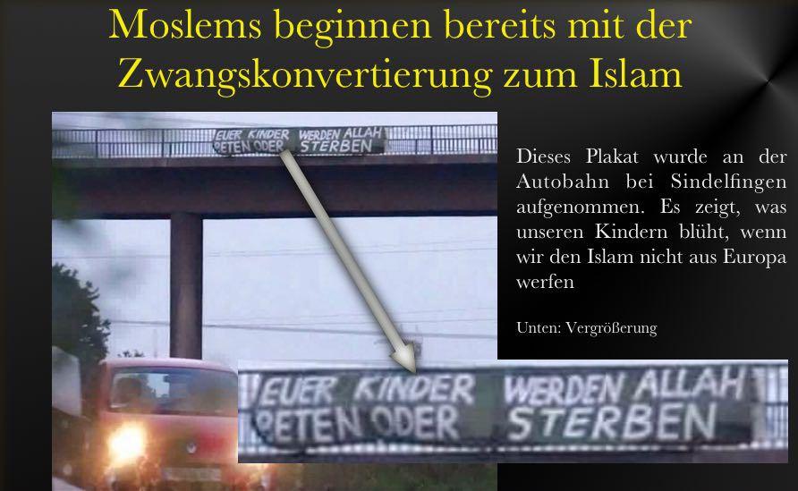 Autobahnplakat-Islam
