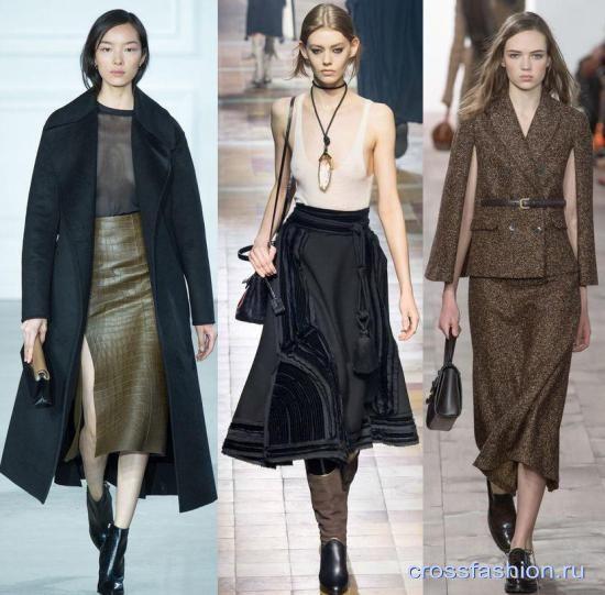 фото модные юбки осень-зима 2015-2016