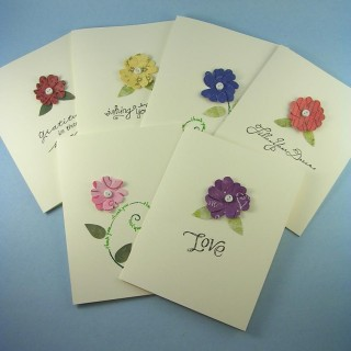 Flower Bed-- Set of Six Mixed Note Cards