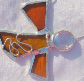 EveryDay Angel- Stained Glass Angel Suncatcher by Hurbanski