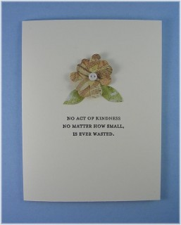 Act of Kindness-- Thank You Card