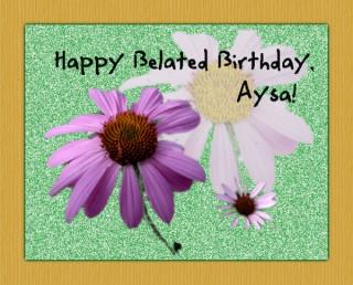 Birthday card for Asya