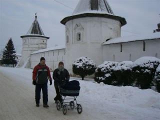 Очень быстрая прогулка по морозу