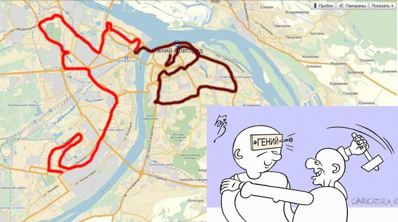 Карта эстафеты олимпийского