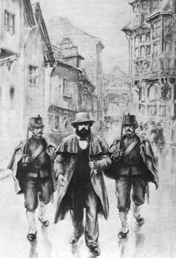 01 Karl Marx arreted in Brussels